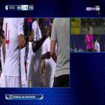 Aouar (France U21) penalty miss against England 66' + Choudhury red card
