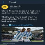 Steve Mounie scored a hat-trick on international duty for Benin. That's one more goal than he scored in the Premier League last season.