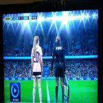 Twitter video showing Argentina Women taking a set-piece while Scotland Women make a substitute, which leads to Argentina's penalty.