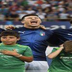 U21 Euros mascot not a fan of Riccardo Orsolini's singing