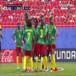 Cameroon women's decide to do team huddle instead of kicking off after second England goal