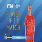 Hedvig Lindahl wins POTM vs Canada