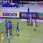 AFC Champions League 2nd leg between Sanfrecce Hiroshima and Kashima Antlers - referee blows whistle for a dive a moment before Hiroshima score what could have been the winning goal