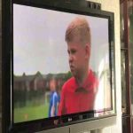 A young Manchester United fan is asked by ITV News who his favorite Man United player is...