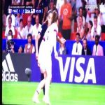 France W handball penalty shout against USA W in the 86th minute