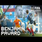 Benjamin Pavard's great goal vs Argentina at the 2018 World Cup.
