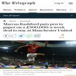 [Telegraph] There's a possibility United could announce Marcus Rashford's new contract as early as tomorrow (Monday). It's a 4 year deal with the option of a fifth year.