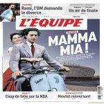 """L'equipe frontpage today : """"Mamma Mia"""""""