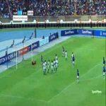 Kariobangi Sharks 1-[1] Everton - Joe Williams free-kick 55'