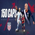 Michael Bradley hits 150 caps for the US National team. He is the third player to do so.