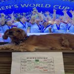My pup and her Women's World Cup bracket!