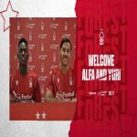 "Nottingham Forest announce the signings of Benfica duo Alfa Semedo (loan with no option to buy) and Yuri Ribeiro (permanent with 50% of a future fee going to the ""eagles"")."