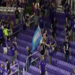 Orlando City SC supporters sprint across stadium to fill empty section after NYCFC choose it for penalties