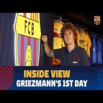 Antoine Greizmann's first day at Barcelona