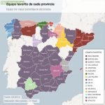 Most Supported Football Clubs in Spain by Region