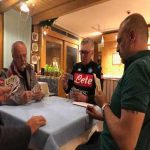 """Napoli's official Twitter account has published a photo of ADL, Ancelotti and Napoli's management playing cards, saying """"Great serenity"""""""