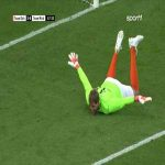 """Goalkeeper Dirk Nowitzki with a """"brilliant"""" save during a charity match"""