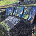 Sounders TIFO against Timbers