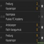 Kayserispor lost to Freiburg by 2-0, demanded a rematch, lost 9-1 instead
