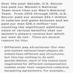 [Rovell] US Soccer responds, for the first time, with what it says are independently audited finances that show that their women players actually do earn more than the men.