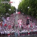 VfB Stuttgart fans before the first game of the 2. Bundesliga season.