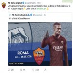 Roma responds to the cheeky Zenit banter.