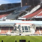 (10.8.2019) Roof of the AZ Alkmaar Stadium collapsed due to heavy wind