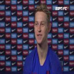 Frenkie de Jong: Before last season started there were about 6 or 7 of us guys at Ajax that were thinking about leaving the club to try and develop somewhere else before Ajax showed us a video that convinced us to stay. (full 10 min interview)