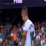 Valencia's Rodrigo miss on empty goal vs Real Sociedad in 81th minute
