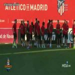 João Félix caught peeing at the Atletico Madrid's training session