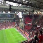 Pre-game explosions in the Spartak end for the Moscow Derby