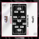 Juventus first starting eleven of the season: Szczesny; De Sciglio, Bonucci, Chiellini, Alex Sandro; Pjanic, Matuidi, Khedira; Costa, Ronaldo, Higuain. De Ligt, Danilo, Rabiot and Dybala on the bench