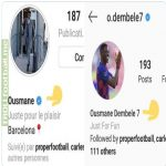 "Dembele removes ""Barcelona"" from his instagram bio"