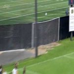 Olympic goal scored in a Notre Dame college soccer game yesterday