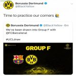 Borussia dortmund's tweet after drawing Barcelona