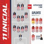 Atletico Madrids line up against Eibar: Marcos Llorente gives his starting debut for Atletico