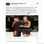 Depay reacts to racism on twitter