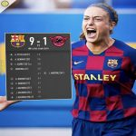 In the first ever Women's Clásico, FCB Femeni beat Real Madrid's Women's team by 9-1.