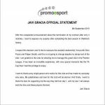 Javi Gracia statement