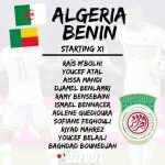 Algeria's starting XI vs Benin (includes Mahrez, Atal, Bensebaini, Brahimi, Belaili and Bounedjah)