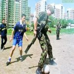 Kosovo, 1999. British soldiers playing football with some kids right after the war. Today, many of their peers play against England for Euro Qualifiers
