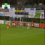 Mees Bakker (Netherlands U19) penalty save against Fábio Silva (Portugal U19) 50'