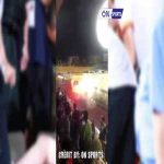 Flares fired from the opposite stand, a female fan has to be hospitalized!