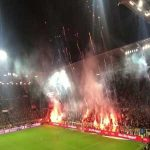 Pyro-show at St.Pauli - HSV derby tonight
