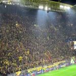 Borussia Dortmund confetti choreography before the Barcelona game