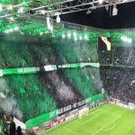 Borussia Mönchengladbach tifo ahead of the EL game against Wolfsberger AC