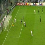 Romano Schmid nutmeg skill vs Mönchengladbach