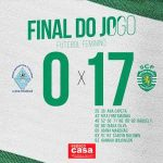 After losing 24-0 in the first matchday against SLB, GD A-dos-Francos women's team lose 17-0 vs Sporting CP