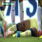 Antonio Briseño's foul on Giovani Dos Santos that removes a chunk of his right thigh