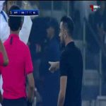 Al Sadd players get physical with the ref, ref isn't having any of it and pushes a player out of the way before showing the red card to Abdulkarim Hassan. [Asian CL Semi final]